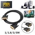 Цифровой Монитор DVI D для DVI-D Золото Мужской 24 + 1 Pin Dual Link Кабельное ТЕЛЕВИДЕНИЕ Digital Visual кабель DVI для проекторов/HDTV