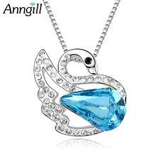 Новые ожерелья и подвески anngill кристаллы swarovsk для женщин