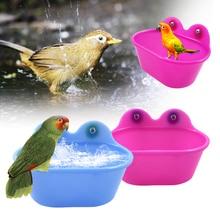 Коробка для ванны с птицами, аксессуары для чистки птиц, аксессуары для ванны с попугаем, прозрачная пластиковая подвесная Ванна для душа