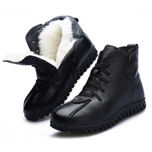 Image 5 - Morazora 2020 ロシア最新の雪のブーツ本革の女性のアンクルブーツ保温ウールブーツ快適なカジュアルシューズ女性