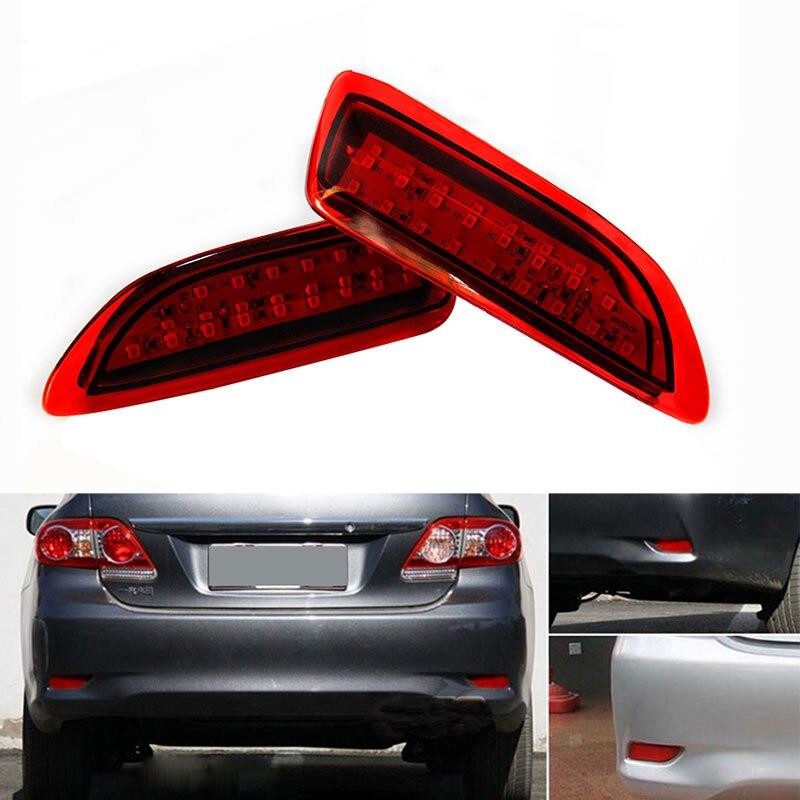 1 set LED Red Bulb For 2011 2012 Toyota Corolla Lexus CT Parking Warning Brake Tail