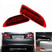 1 комплект светодиодный красная лампочка для 2011-2012 Toyota Corolla Lexus CT парковка Предупреждение тормозной фонарь задний красный объектив заднего бампера Отражатель свет