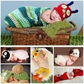 Sheep Newborn photography props,Animal all kids clothing and accessories,Duck crochet hats baby clothing set,costume baby #JH021