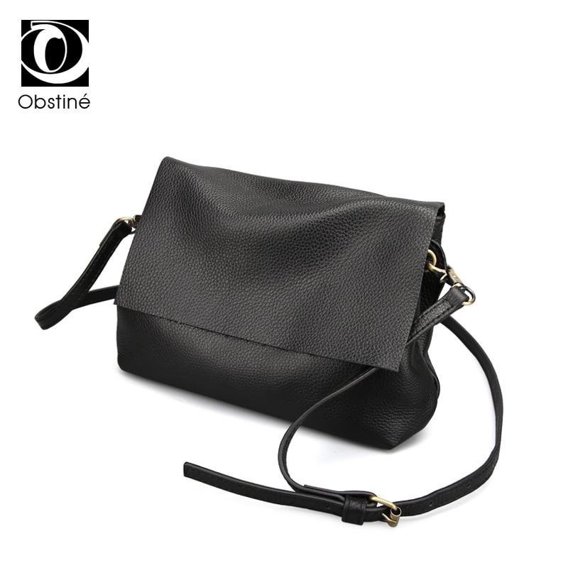 100% Echtem Leder Frauen Schulter Taschen Einfache Mode Echt Haut Rindsleder Einfache Messenger Taschen Freizeit Weibliche Messenger Tasche HeißEr Verkauf 50-70% Rabatt