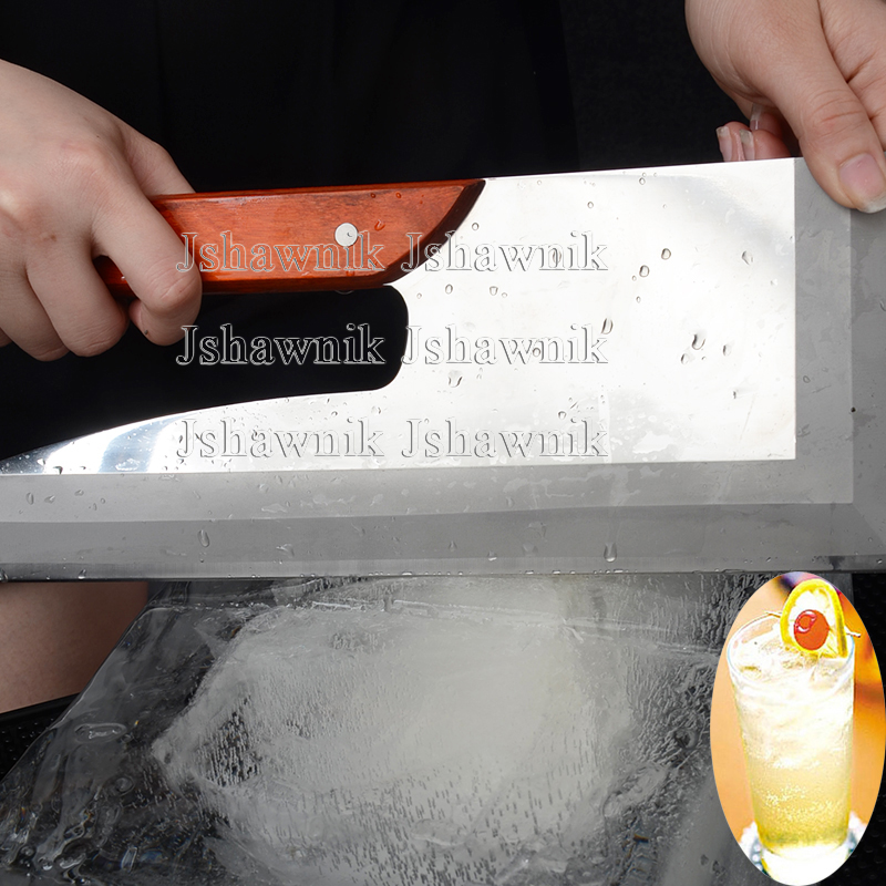 Stainless steel cut ice knife bar ice skate blade cocktail ice cutter
