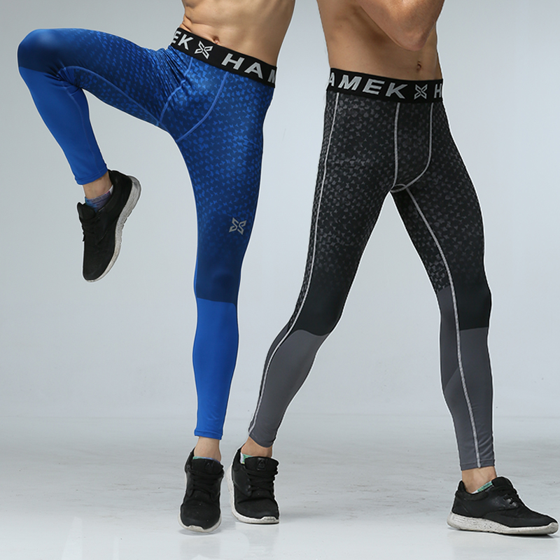 36582fd6bb078 HAMEK Running Pants Men Jogging Sport Leggings Gym Fitness Compression  Tights Skins Exercise Workout Quick Qry Spandex Trousers-in Running Tights  from ...