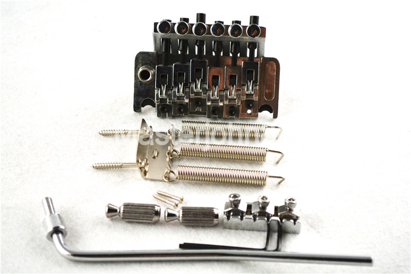 купить Floyd Rose Electric Guitar Bridge Tremolo Bridge Locking System Chrome/Black Free Shipping в интернет-магазине