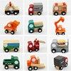 12 PCS Set Wooden Mini Car Toys Kids Baby Educational Diecasts Vehicle Cars Cute Models Simulate