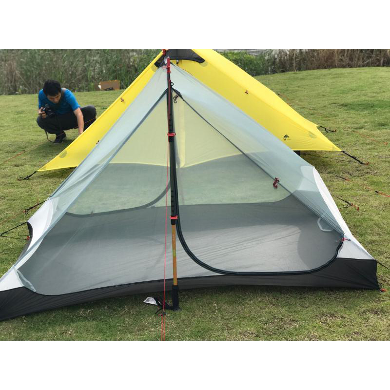 2017 LanShan 2 3F UL GEAR 2 Person Oudoor Ultralight C&ing Tent 3 Season Professional 15D Silnylon Rodless Tent-in Tents from Sports u0026 Entertainment on ...  sc 1 st  AliExpress.com & 2017 LanShan 2 3F UL GEAR 2 Person Oudoor Ultralight Camping Tent ...