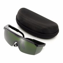 Темно-зеленый OD4 + лазерная Защитные очки Очки защитные очки 200-540nm/532nm и Очки коробка цена оптовой продажи