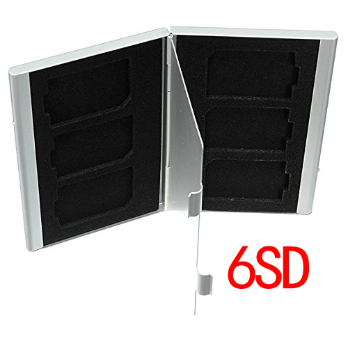 Case Transmission Case Memory Card Storage Alu Protection. For SD TF Flash For Silver 6SD