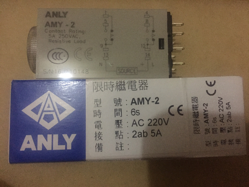 AMY-2 AC220V 6S  Original Taiwan  ANLY time relay new GenuineAMY-2 AC220V 6S  Original Taiwan  ANLY time relay new Genuine