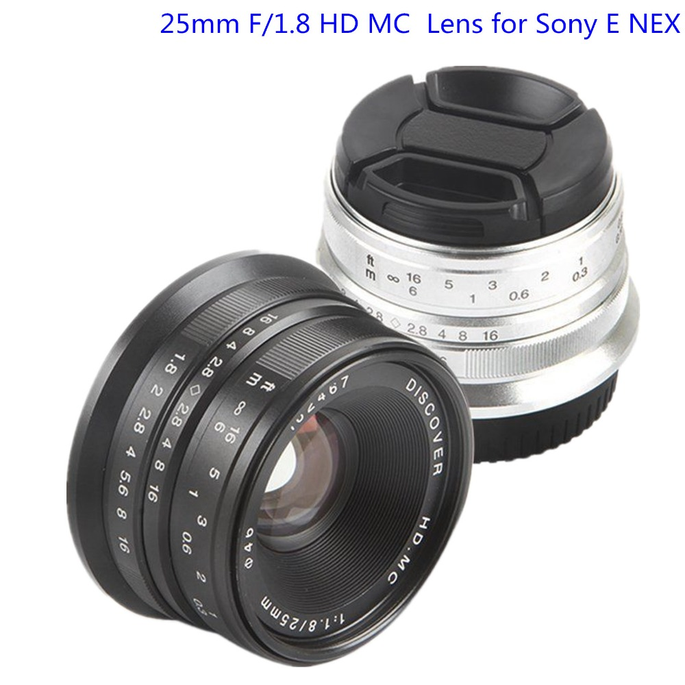 25mm F/1.8 HD MC Manual Focus Lens for Sony E NEX Mount Camera A7R A7S A7RII A7SII A6500 A6300 A6000 A6100 A50000 A5100 A3000 free shipping new nex 7 camera repair and replacement parts nex7 motherboard for sony nex 7 mainboard nex 7 main board