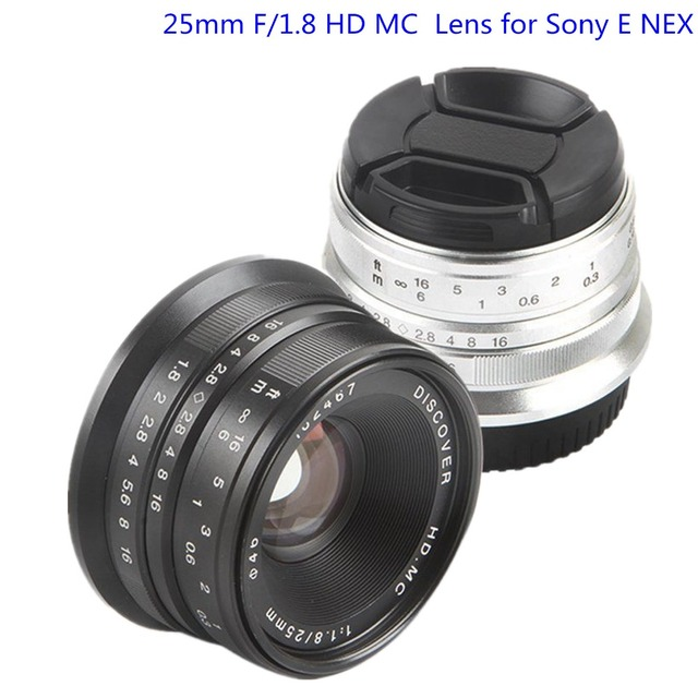 25mm f 1 8 hd mc manual focus lens for sony e nex mount camera a7r rh aliexpress com Sony Digital Camera F1.8 Lens Sony NEX 3