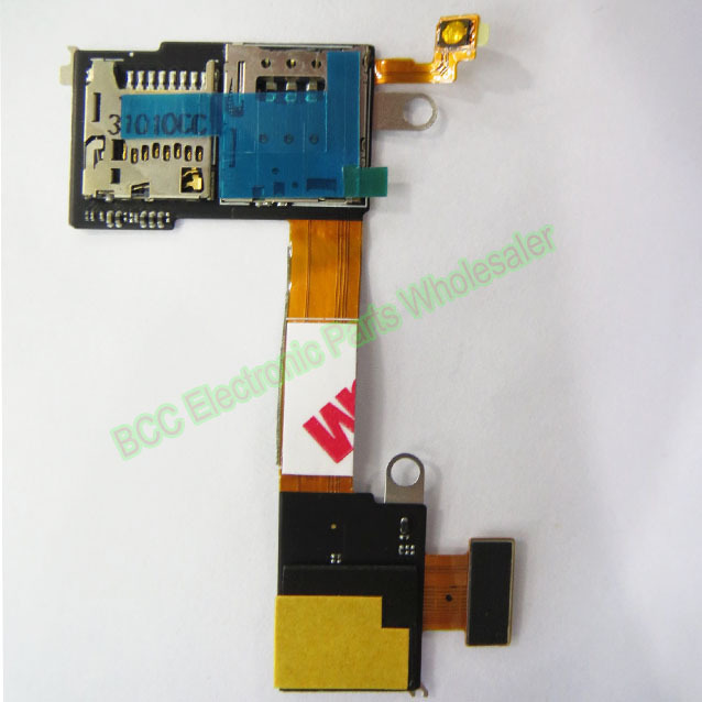 Original For Sony for Xperia M2 S50H D2303 D2305 SIM SD Memory card reader holder power on off switch Flex Cable with tracking