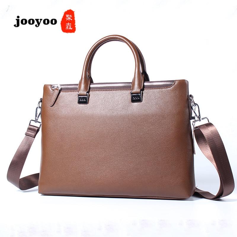 Nouveau sac à main pour hommes coupe transversale affaires en cuir de vache sac d'ordinateur décontracté mallette en cuir importé sac pour hommes jooyoo