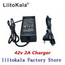 Cargador de batería Liitokala de 36V 2A, salida de cargador de 42V 2A, entrada de cargador 100 240VAC, Li ion de litio, cargador de polímero para 10Series 36V