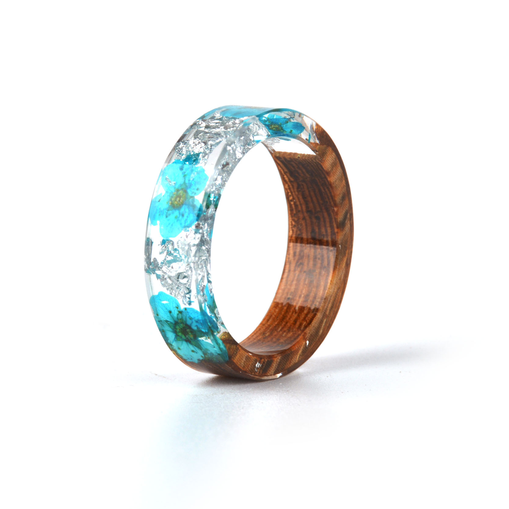 HTB1cONfasfrK1RjSszcq6xGGFXaK - Hot Sale Handmade Wood Resin Ring Dried Flowers Plants Inside Jewelry Resin Ring Transparent Anniversary Ring for Women