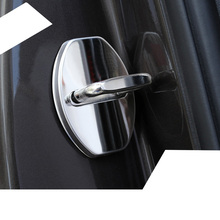 Lsrtw2017 Abs Stainless Steel Car Door Lock Buckle Cover for Audi A1 A3 A4 A6 Q3 Q5 A7 Q7 lsrtw2017 leather car key case chain buckle chain for a4 a6 a3 q3 q5 q5 q7