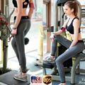 New Sexy Cintura Alta Esticada Calças Esportivas Roupas de Ginástica Spandex Calças de Corrida Esportes Das Mulheres Calças Leggings De Fitness Yoga