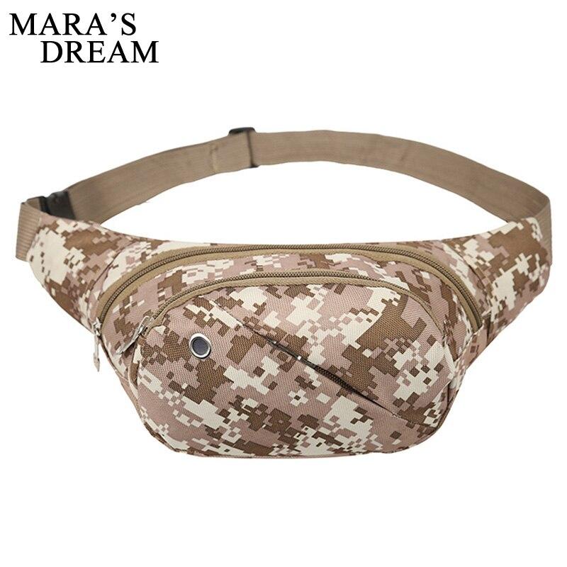 лучшая цена Mara's Dream Waist Bag Waterproof Nylon Fanny Pack Men Camouflage Multi Pocket Male Waist Pack Belt Bag Travel Bag Drop Shipping