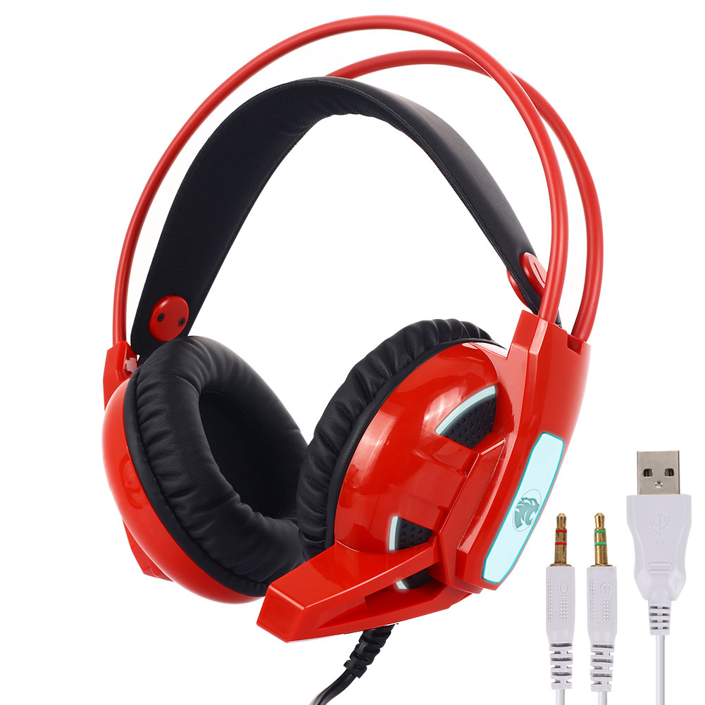 Headworn Camouflage Bilateral Large Headset for 4 PS4 X-One PC and Laptop SODIAL Wired Game Headset with Microphone