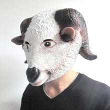 Free shipping Halloween Party New Arrival Creepy sheep Mask Head Halloween Goat/Sheep Head Latex Mask Party Animal Toy/Prop