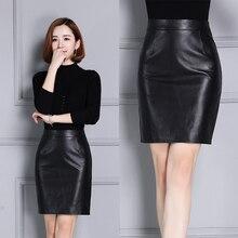 Women autumn and winter genuine leather sheepskin dress