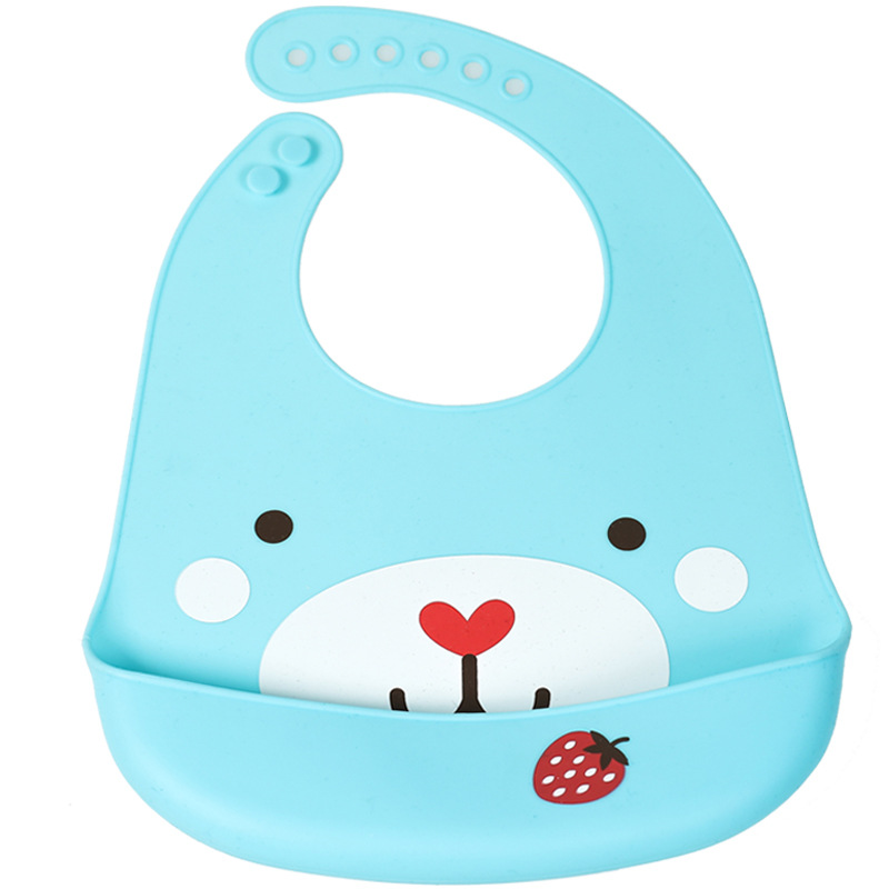 Baby Waterproof Silicone Bibs BPA Free Infant Toddler Cartoon Apron Newborn Kids Adjustable Bibs in Bibs Burp Cloths from Mother Kids