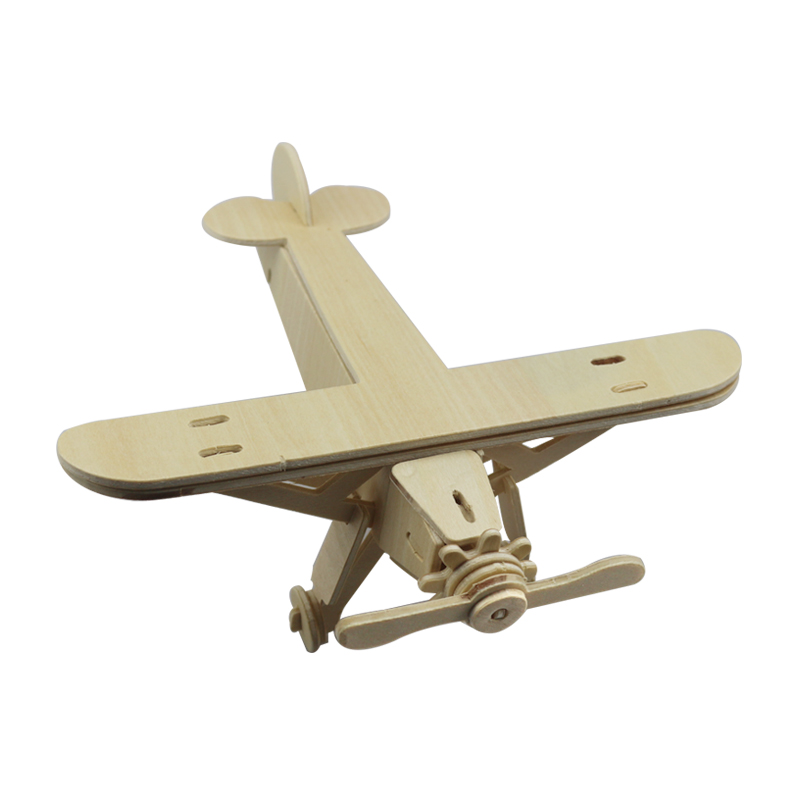 Жаңа 1Pc ұшақтары Serial 3D Wooden Puzzle Vivid Wooden - Ойындар мен басқатырғыштар - фото 3