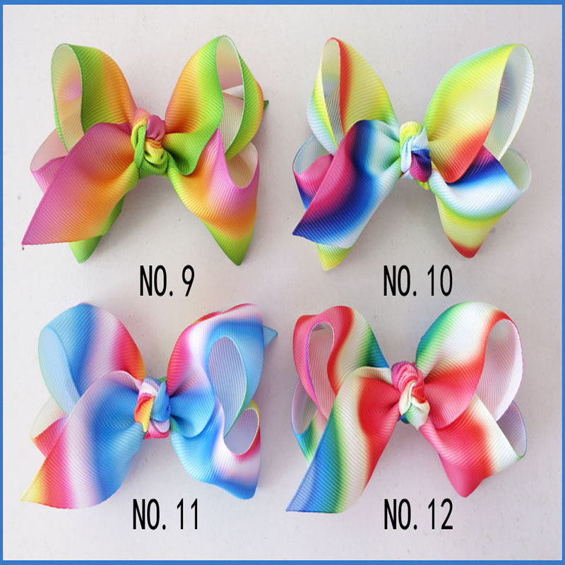 50 BLESSING Good Girl Boutique 3.5 New Rainbow ABC Hair Bows Clip Accessories