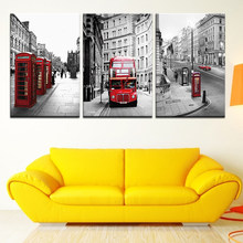 London street scenery 3 Pieces Full Square /round Diamond Painting 3d Cross Stitch DIY 5D Diamond Embroidery Picture diamond art(China)