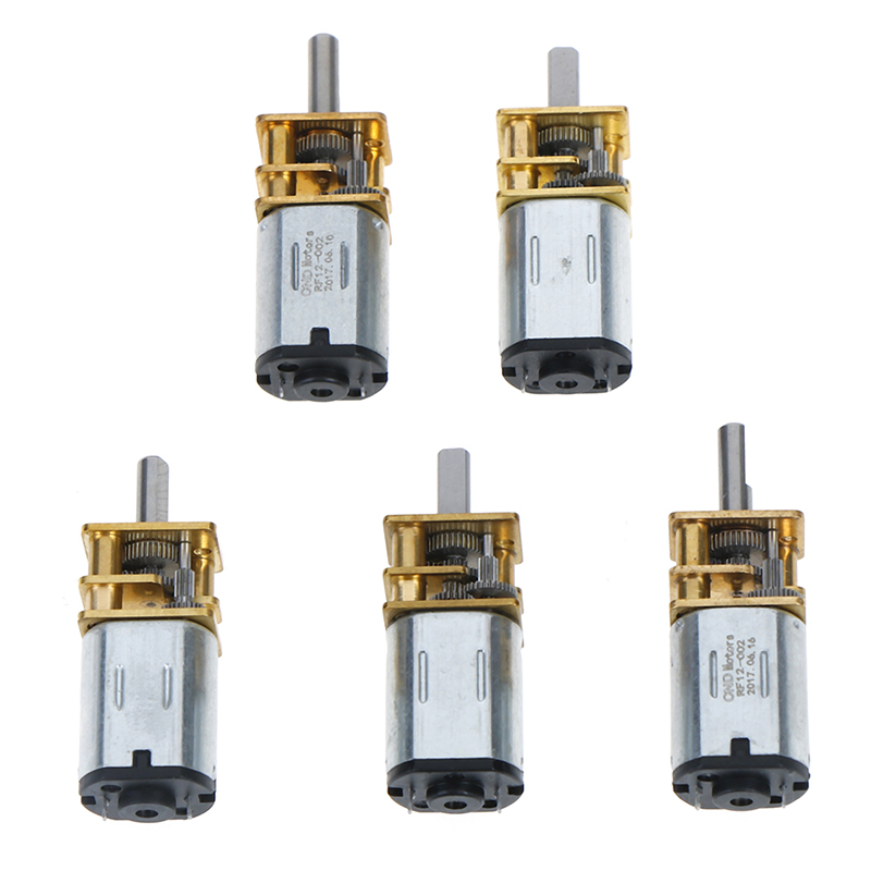 1Pc 6/12V DC Mini Metal Gear <font><b>Motor</b></font> With Gearwheel DC <font><b>Motors</b></font> 20/30/<font><b>50</b></font>/100/200/300 <font><b>RPM</b></font> image