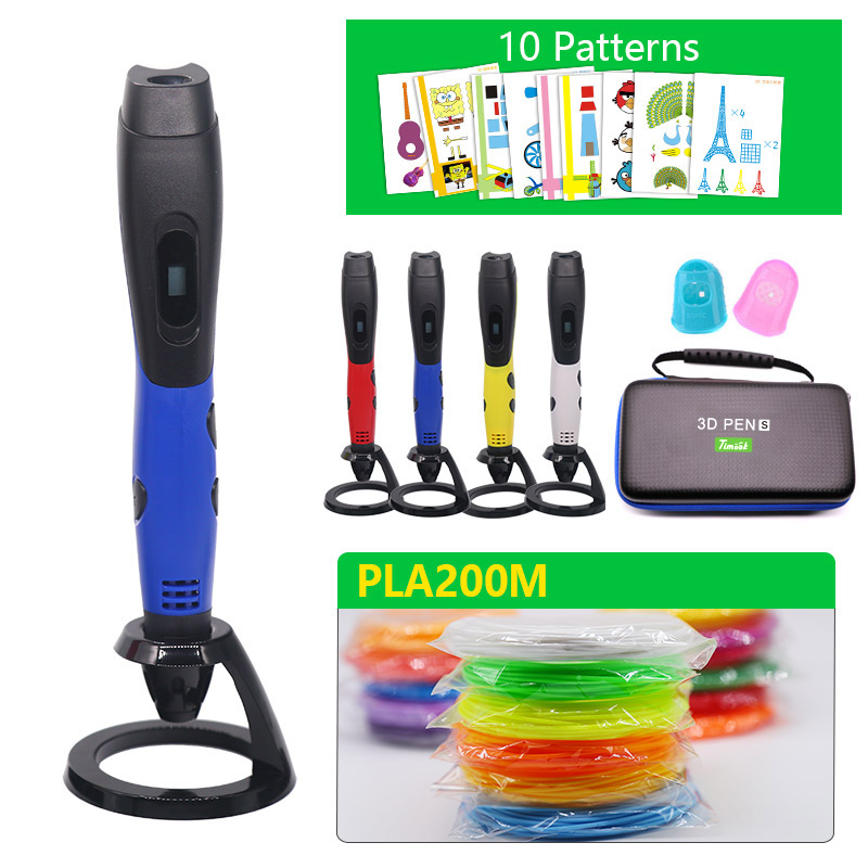 high quality usb 3D pen with PLA filament and beautiful leather bag for outdoor creation 3d Print pen Best Christmas present in 3D Pens from Computer Office