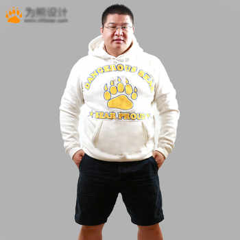 Bear Paw Claw Hoodies Men's Autumn Winter Tracksuits Fleece Man Coat Gay Bear Coats Jackets Hooded Sweatshirts Gray/White M L XL - DISCOUNT ITEM  0% OFF All Category