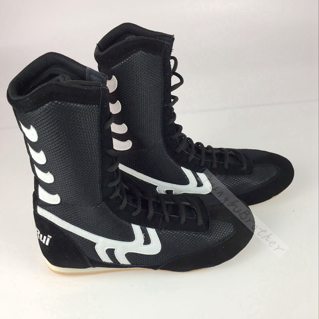 Professional  Boxing  Wrestling Shoes Rubber Outsole Breathable Combat Shoe Sneakers Scarpe Boxe Uomo Size 36-46