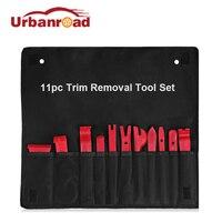 Urbanroad 11Pcs Auto Trim Removal Tool Kit Plastic Fastener Remover Car Door Clip Panel Radio Removal