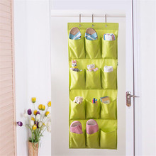 New 12 Pockets Hanging Storage Bag Multifunction Shoes Socks Storage Organizer Door Wall Closet Rack Hangers Free Shipping