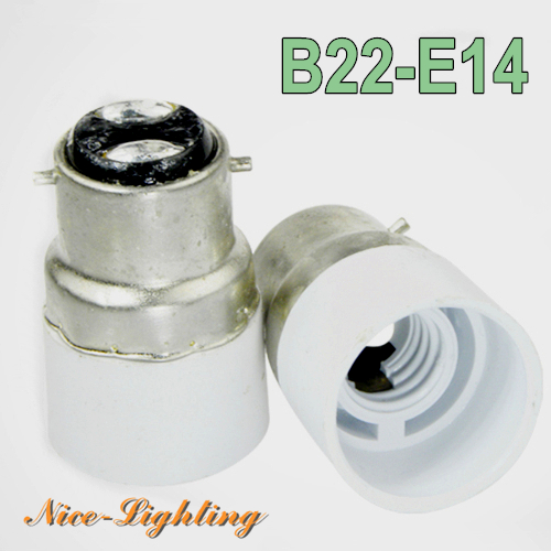 10pcs/lot B22-E14 Lamp Holder Converter Bayonet Socket B22 to E14 Lamps Holder Adapter Light Bulb Plug Extender Free Shipping