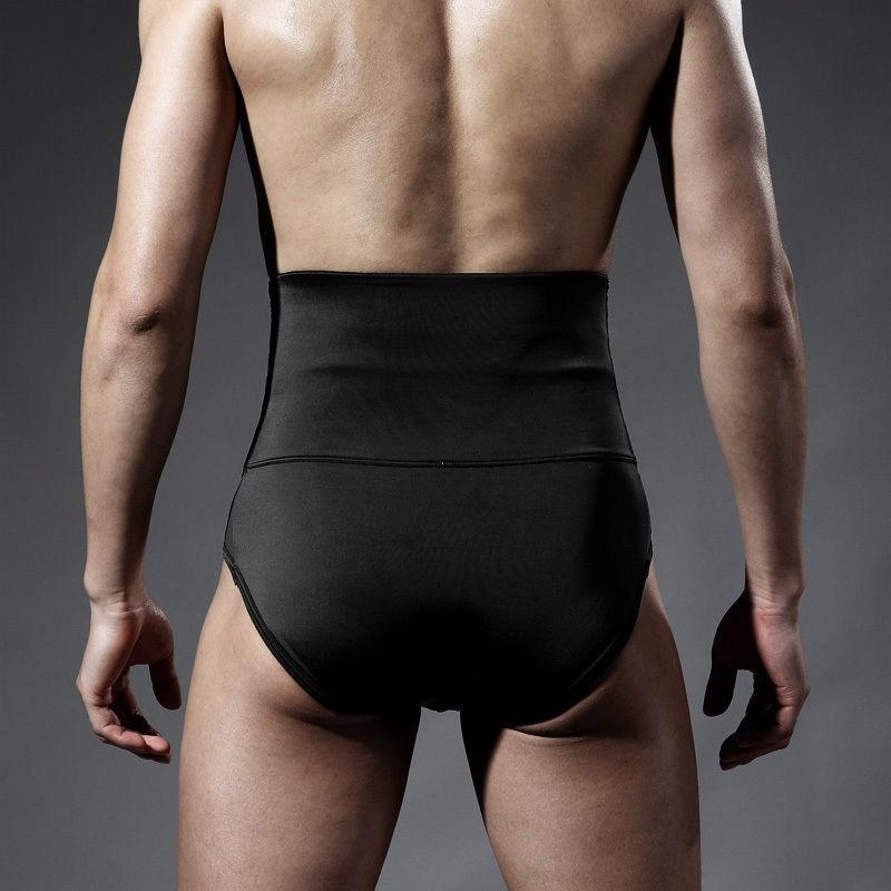 ea7802adfc Latex Shorts Tummy Control Waist Bodycon Corsets Men Waist Trainer Cincher  Body Shaper Underwear Bodysuit Slimming Belts Girdle