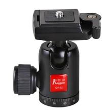 360 Digital camera Mini Tripod Ball Head Mount with Fast Launch Plate 1/four Three/eight Load Capability 4kg for DSLR Digital camera Canon Nikon Sony QA-01