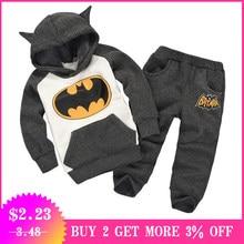 cd06e850c09e5 2019 automne hiver pâques enfant en bas âge garçons enfants vêtements  ensemble bébé garçon noël vêtements Batman enfants sport C..