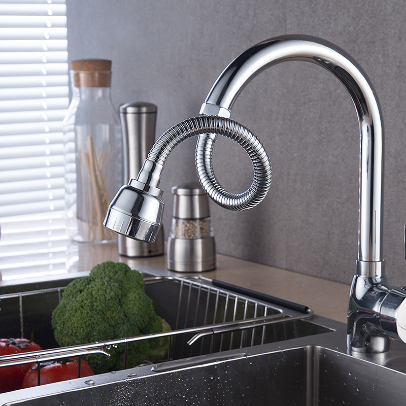 Faucet Spout Bathroom Faucet Spatter - Proof Head Extension Device Kitchen General Purpose Stereotypes Splash Universal Can Bend