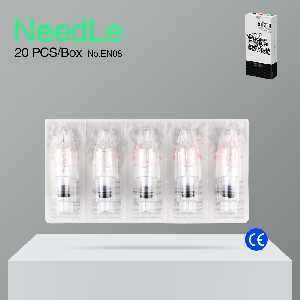Stigma 20 Pcs Cartridge Needles Disposable Sterilized Permanent Makeup Piercing Needles For Tattoo Gun Machine EN08-RL