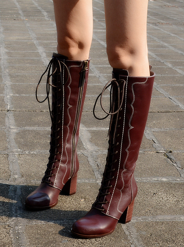 New Hot Lace-up Cross-tied Sexy Fashion Over the Knee Boots Winter Round Toe Square Heel Thigh High Boots Woman Shoes Size 34-40 plus size 34 43 sexy lace up thick high heels over the knee boots shoes woman fashion platform mature winter thigh high boots
