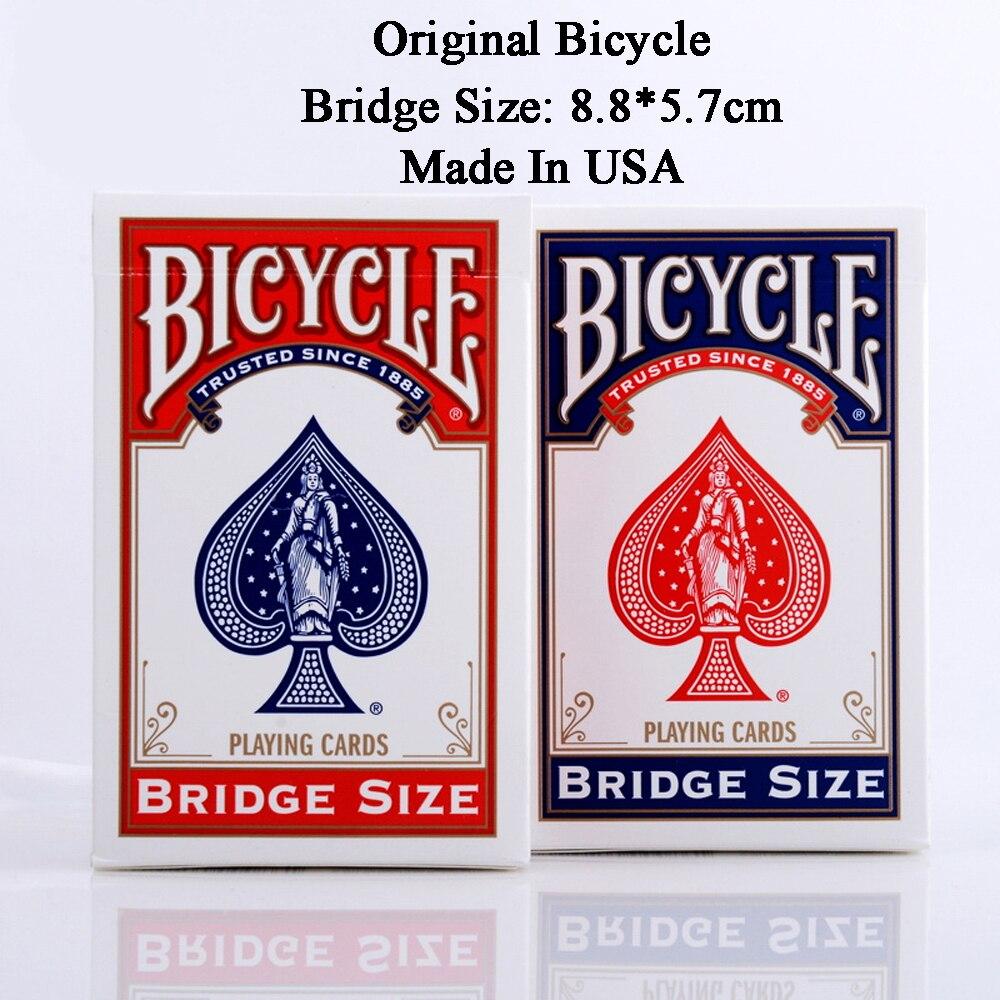 1 Däck Cykel Spelkort Kort Brost Storlek Blått eller Rött Nytt Förseglat Poker Magic Card För Små Händer Magic Tricks