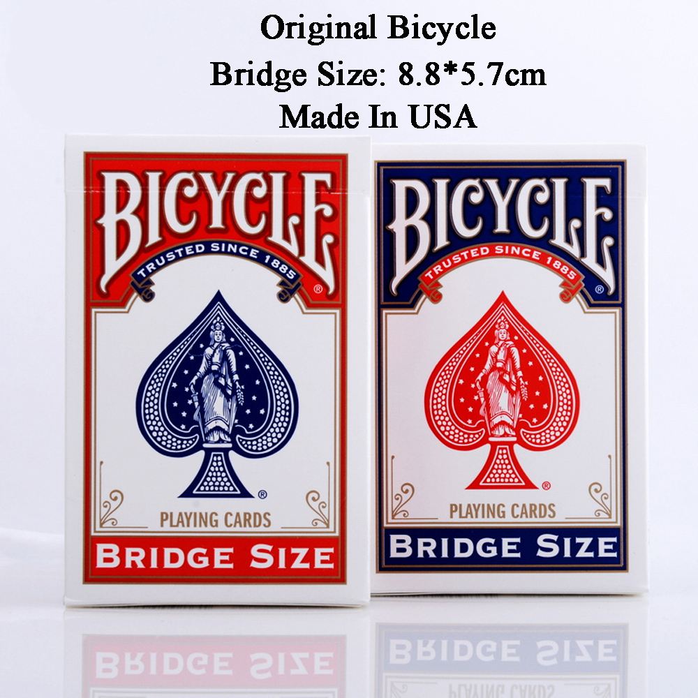 1 Deck Bicycle Playing Card Bridge Size Blue or Red New Sealed Poker Magic Card For Small Hands Magic Tricks