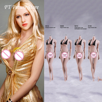 Collectible 1/6 Scale Sexy TBLeague eFemale Body Pale Color Stainless Steel Skeleton Seamless Body Action Figure Doll KT004 Head