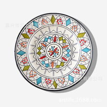 Hand-painted ceramic tableware snack plate 9 inches creative the household decoration to hotel western-style food hang dish
