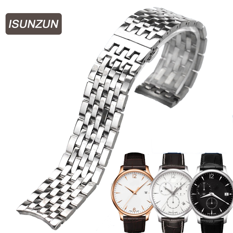 ISUNZUN Watch Band For Men And Women For Tissot Junya Series T063639A T063 Astainless Steel Watch Strap Watchbands Free Shipping tissot t063 610 16 052 00